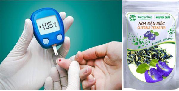 hoa đậu biếc giúp kiểm soát đường huyết, tốt cho bệnh tiểu đường