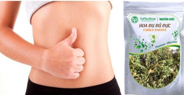 hoa đu đủ đực giúp tăng cường tiêu hóa, chữa viêm loét dạ dày